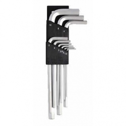 9pcs Short Arm Hex or Ball Wrench