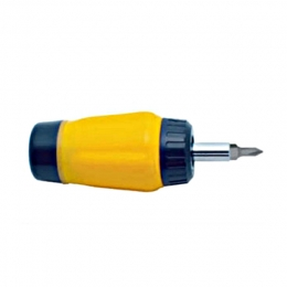 6-In-1 Stubby Gearless Ratchet Screwdriver