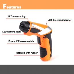 Compact Electric Cordless Screwdriver
