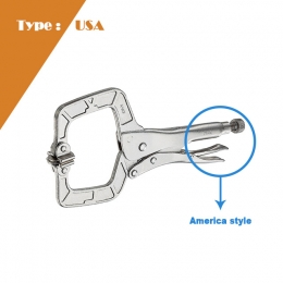 Swivel Pads Locking C-Clamp (U.S.A Type)