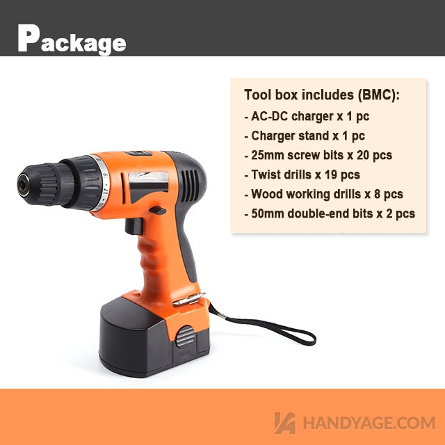 Cordless Drill & Bits Combo Kit::Handy-Age Industrial Co ...