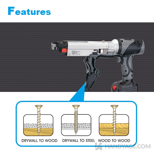 14.4V Auto-feed Collated Drywall Screwdriver